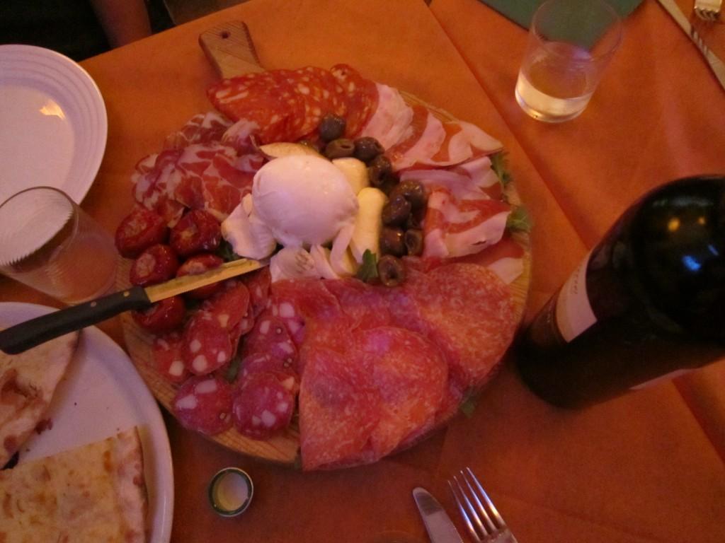Mozzarella di Bufala, mixed meats, prosciutto