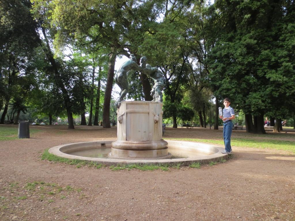 Fontana della famiglia dei Satiri, or Fonte Gaia in Villa Borghese