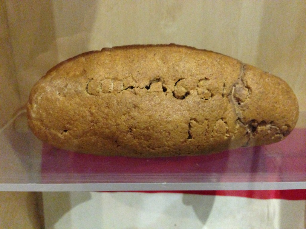 """Courage Mama"" in bread in the Liberation Museum, Rome, Italy"