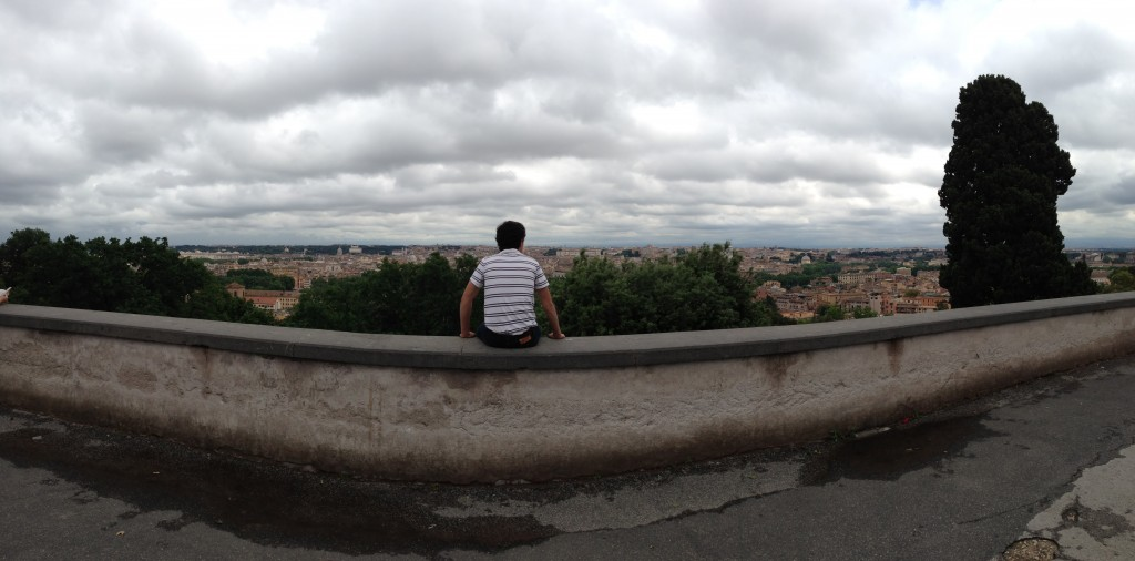 The view from the Janiculum in Rome, Italy