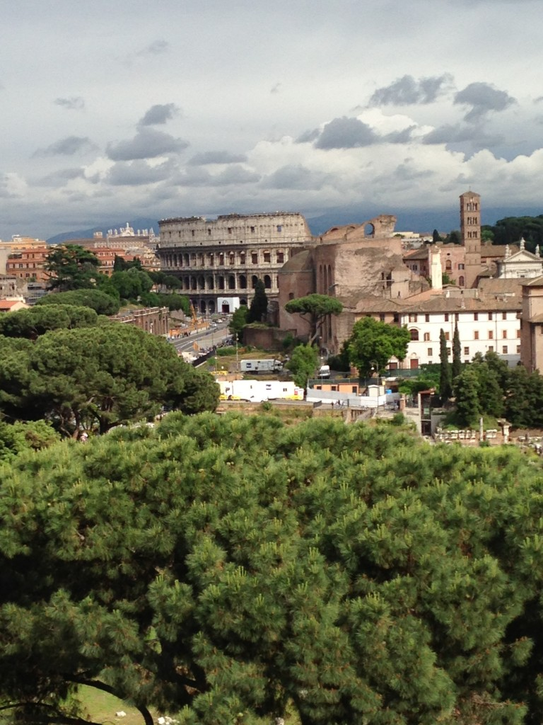 View of Rome from the Vittorio Emanuele (Vittoriano, and Altare della Patria [Altar of the Fatherland])