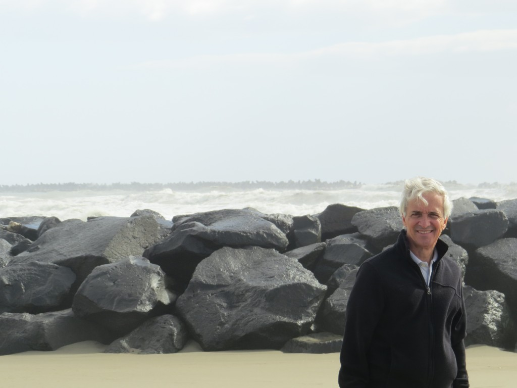 Dad at Ostia beach, Rome, Italy