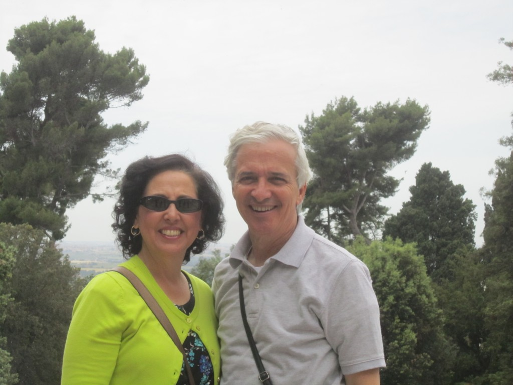 Mom and Dad at Villa D'Este, Tivoli Italy. Outside of Rome