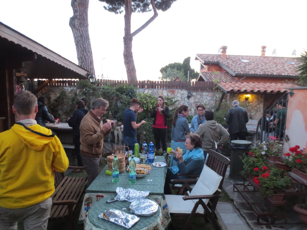Italian party in the back yard