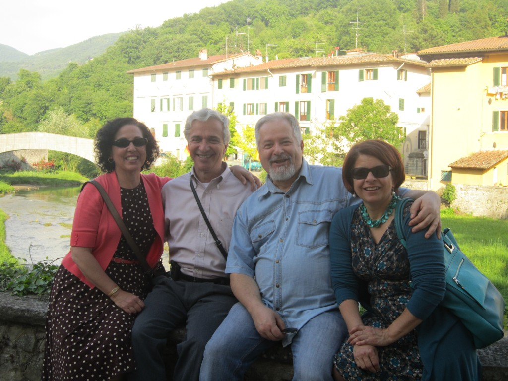 After a family dinner outside of Florence, Italy with some friends