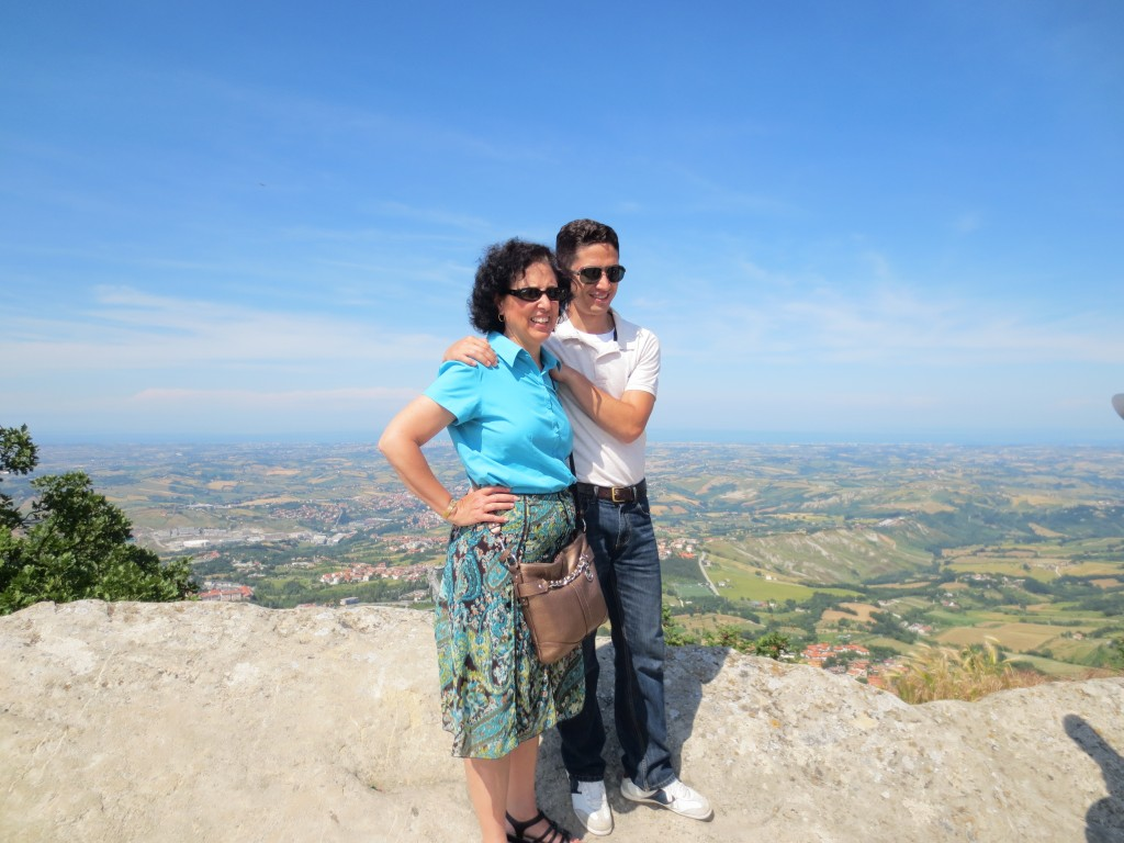 Looking out over San Marino