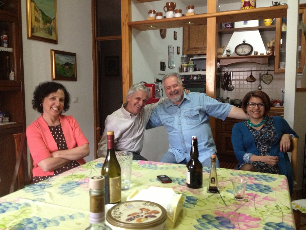 After a family dinner outside of Florence, Italy