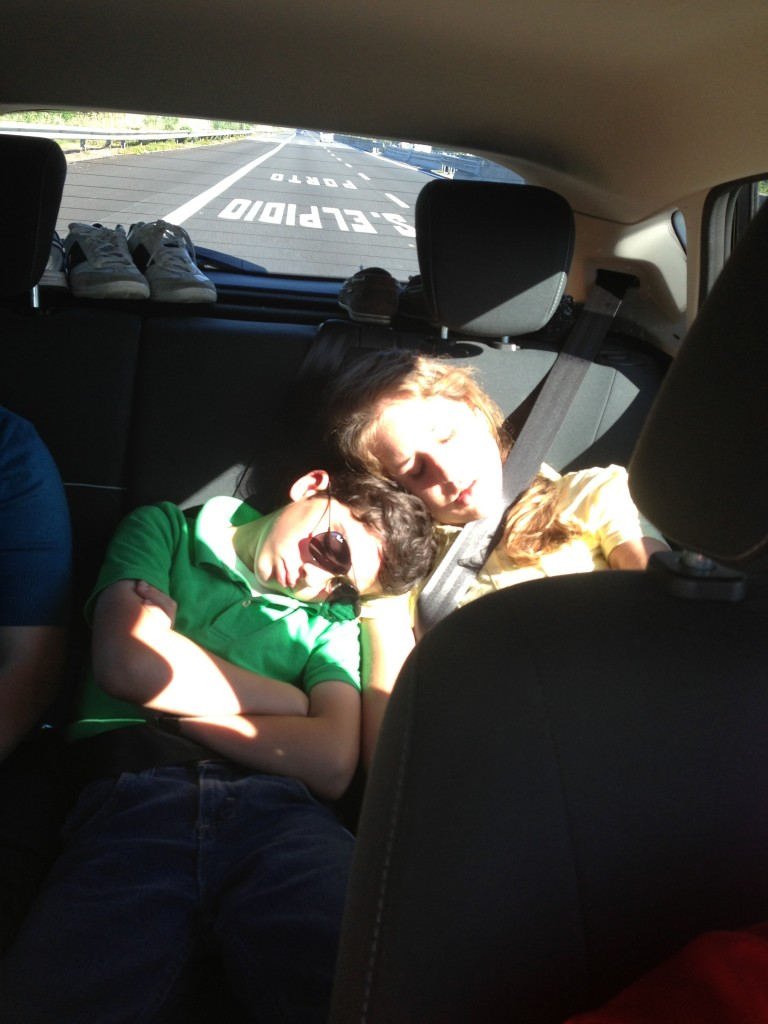 Sleeping on road trip up to Rimini!