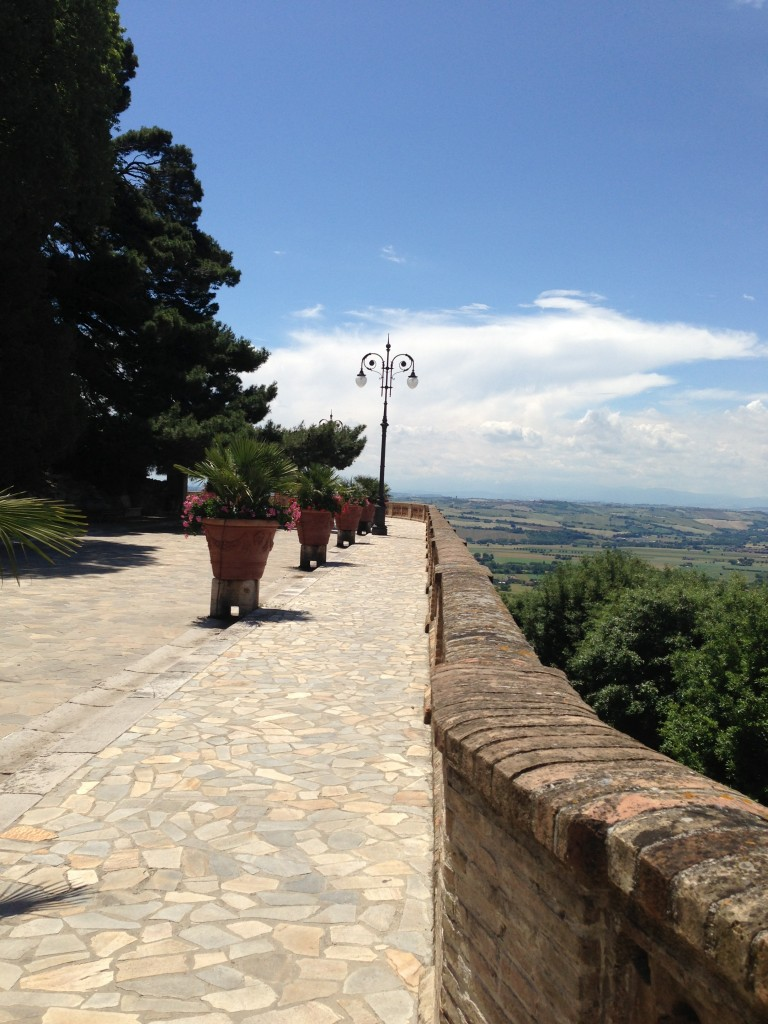 Overlook on the way up to Osimo, Italy