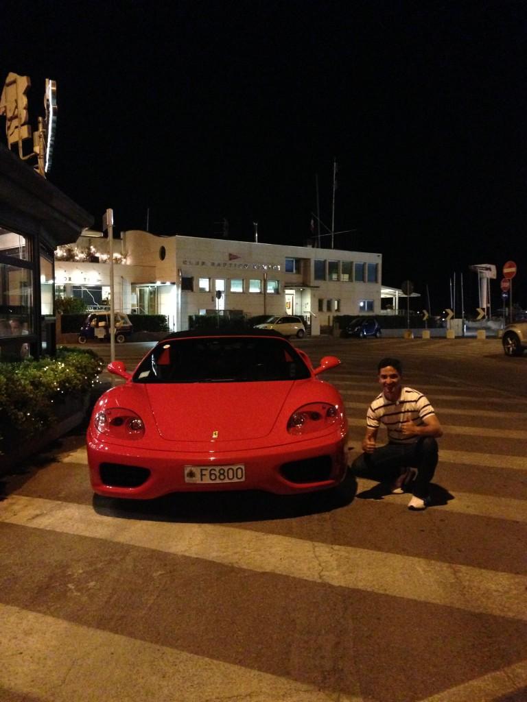 Ferrari F430 Spyder at Rimini Beach, Rimini Italy