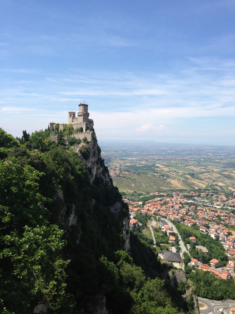 One of the three towers in San Marino, Italy.
