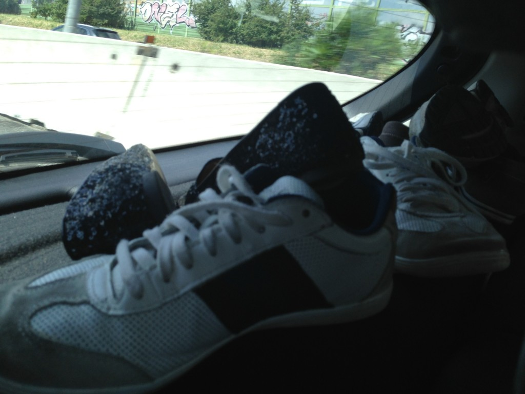 Shoes on the dash