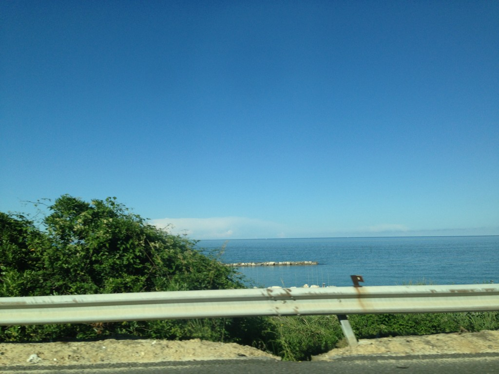 View of the beach on our road trip up to Rimini!