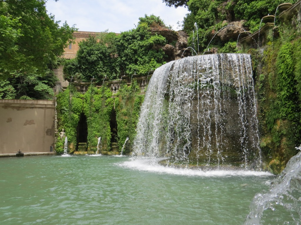 Fountains at Villa D'Este, Tivoli, Italy. Outside of Rome
