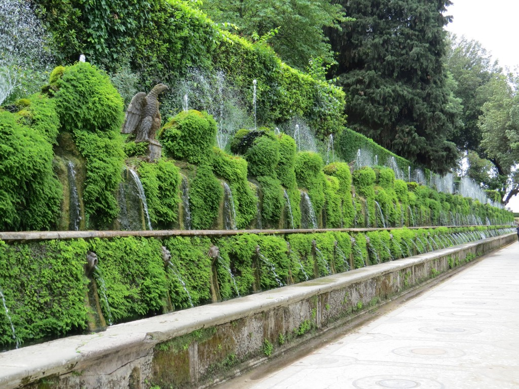 At Villa D'Este, in Tivoli, Italy, outside of Rome.