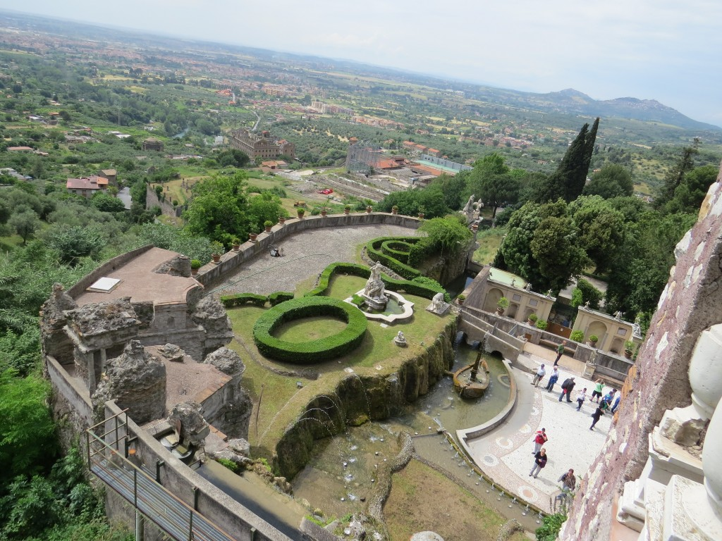 View from above, at Villa D'Este, in Tivoli, Italy, outside of Rome.