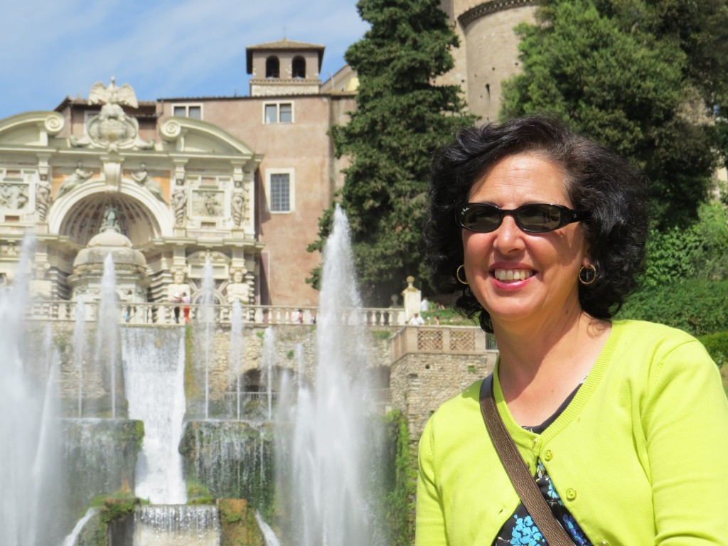 Mom at Villa D'Este, Tivoli Italy. Outside of Rome