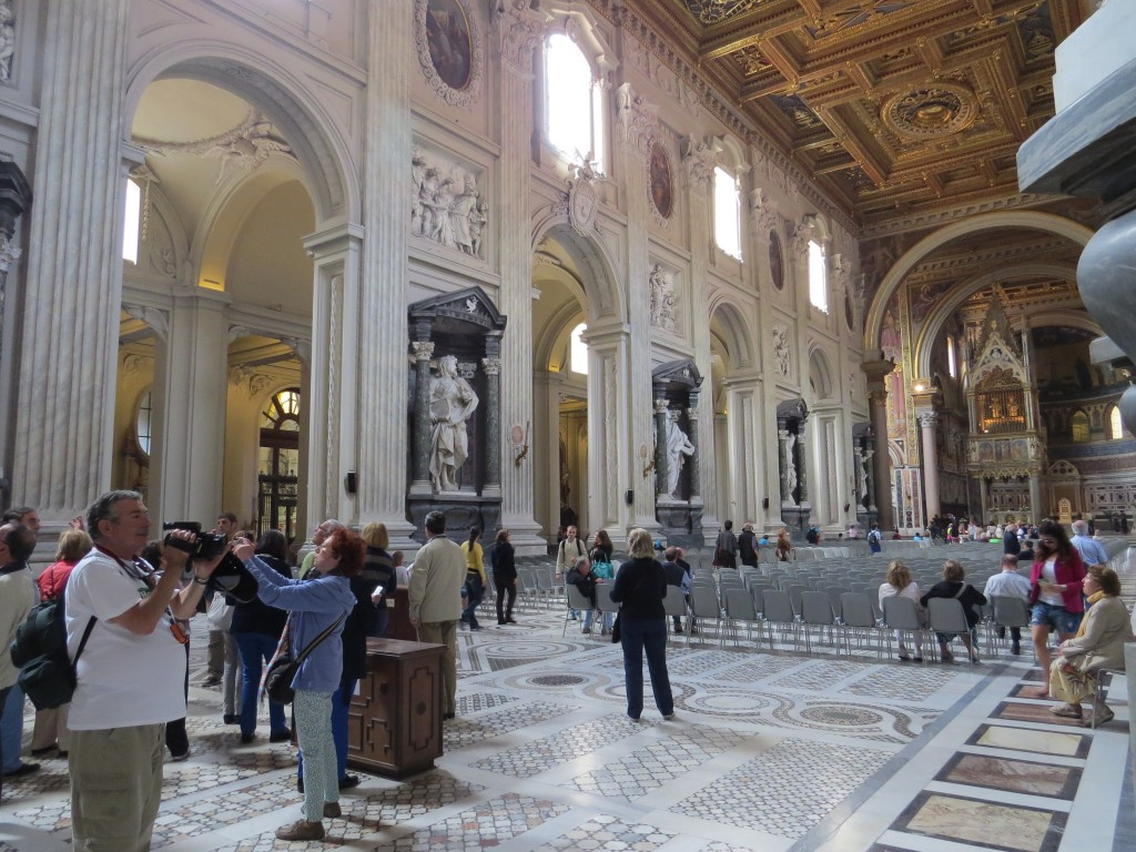 Inside St. John Lateran, Rome, Italy