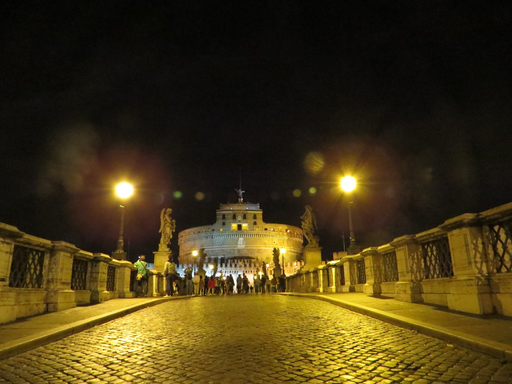 Castel Sant' Angelo at night, Rome, Italy