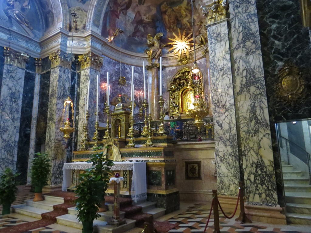 Inside the Sanctuary of St. Luke in Bologna, Italy