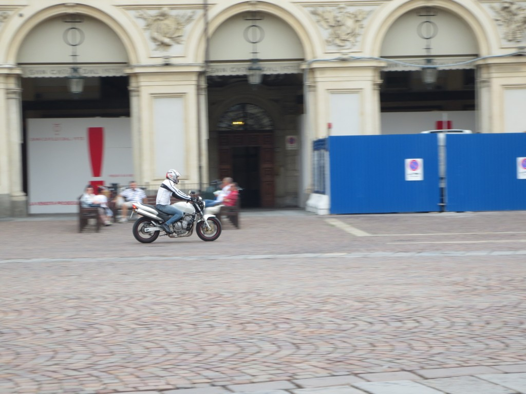 Motorcycle in Turin, Italy