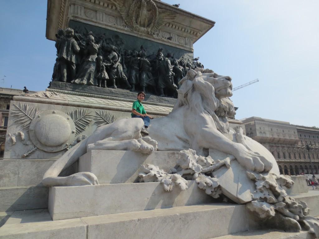 Lions in Piazza del Duomo