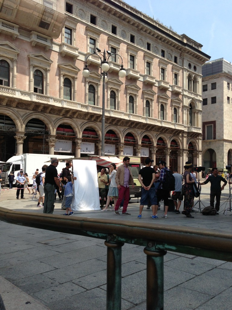Street style commercial filming in Milan