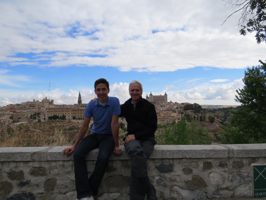 Andrew and Dad with Toledo in the background.