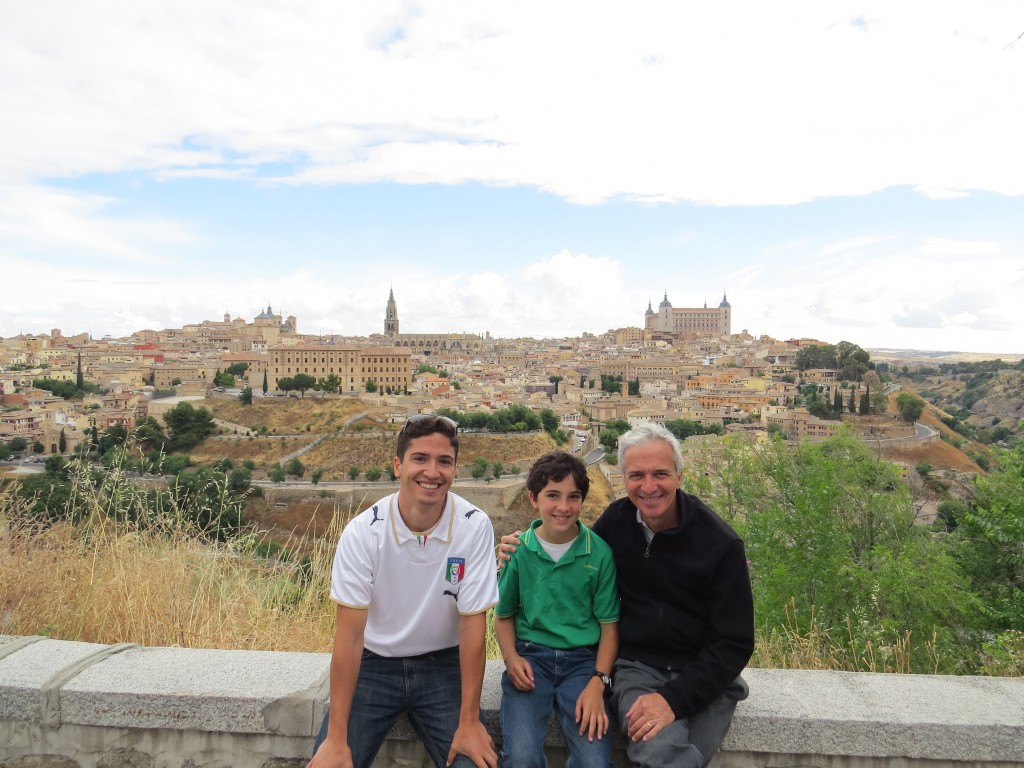 Alex, Gus and Dad with Toledo in the background.