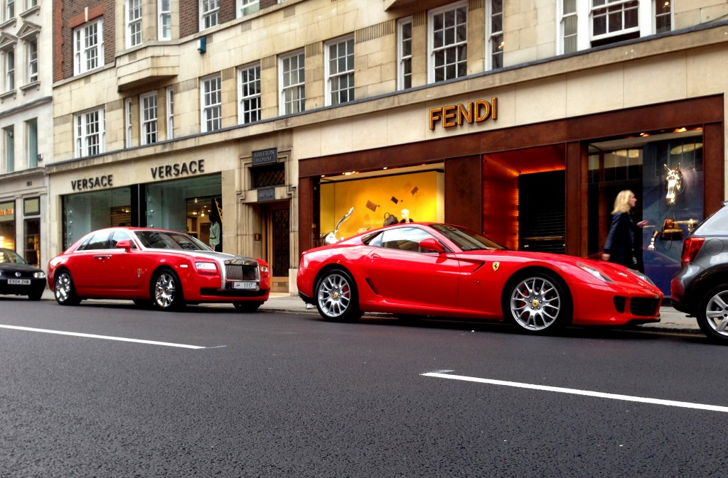 Ferrari 599 and Rolls Royce Phantom