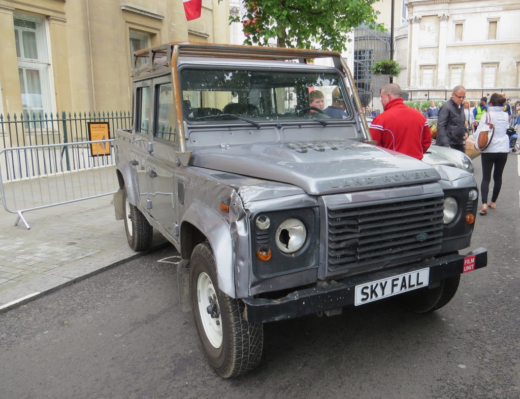 "Land Rover used in the James Bond film ""SkyFall"""