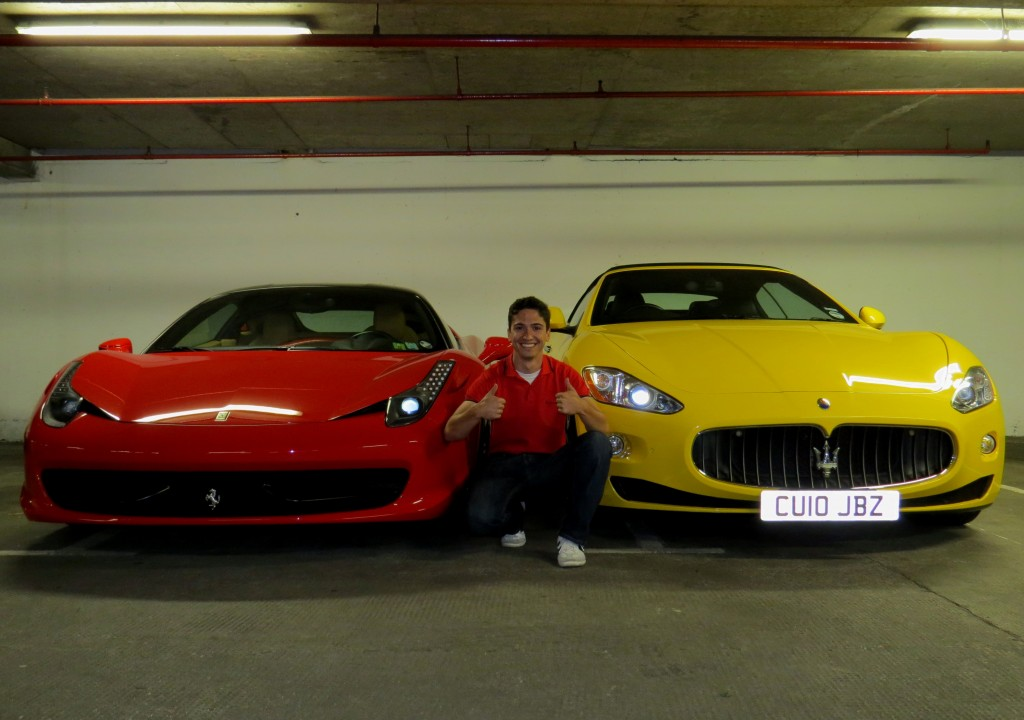 Ferrari 458 Italia and the Maserati GranTurismo