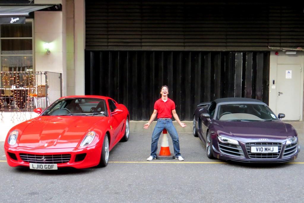Ferrari 599 and Audi R8 GT