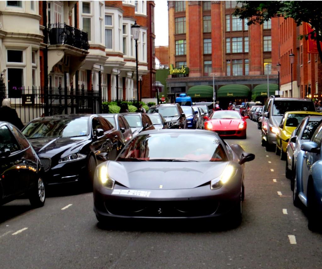 Ferrari 458 and Ferrari 599